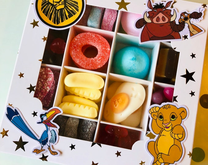 Lion King - Aladdin - Disney - Pirate party - Sweets mix -  Pick 'N' Mix Gift Box. Birthday boy - Birthday girl. Thank you - Party sweets