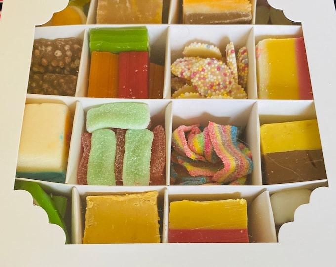 Extra Large Sweet Fudge Sharing Gift Box, Family Sweet Treats, Candy Mix Up. Movie Night In, Couple Goals, Housewarming Gift, Sweet Treats.