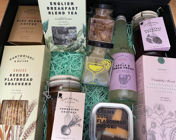 Sweet And Savoury Gift Set. Gift For One, Gift For Two. Biscuits, Cheese Crackers, Cartwright and Butler. Gift For Him, Gift For Couples