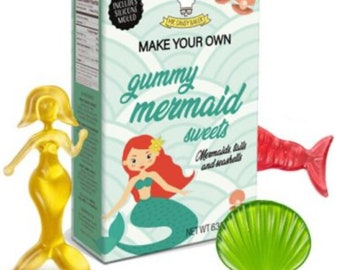 Mermaids / Unicorns DIY jelly sweet gummy candy making set. Make your own jellies, Kids activity pack, Children's science kit. Arts & Craft