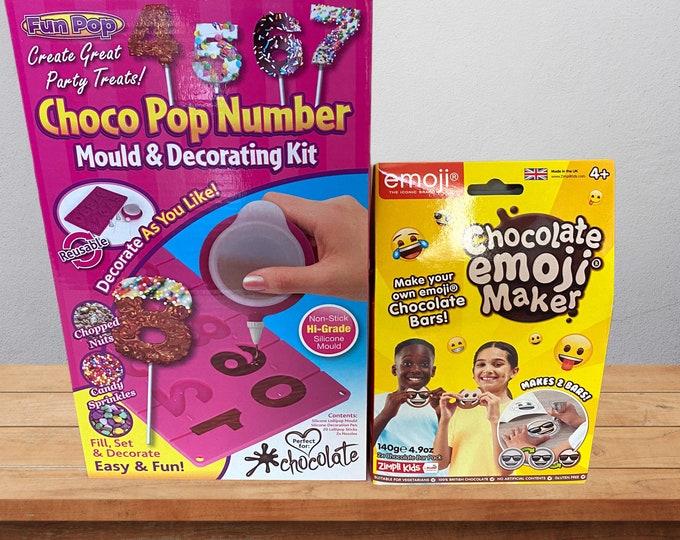 Children's Baking. Chocolate making. Choco Number Pops & Chocolate Emoji Maker. Chocolate Decorating. Children's Fun activities At Home