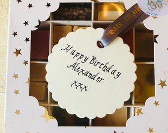 Personalised Handmade Fudge, Nougat & Scottish Tablet Gift Box, Thank you present, Congratulations gift, Get well soon Selection Boxes.