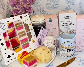 Afternoon Tea Fudge. Gift Set, Fudge Gift Box, British Afternoon Tea Gift, Gourmet Fudge, Handmade Fudge Box, Birthday Fudge Gift