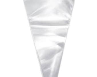 Empty cellophane sweet cone bags, Party Bags, Party supplies, Bath bomb cones, DIY cones, Wedding favours, Children's party sweet cones