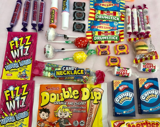 Retro Sweet Selection Box, Old fashioned sweets. Sweet shop, Gifts for him, Gift for brother, Stocking filler, Childhood sweets. Memory Lane