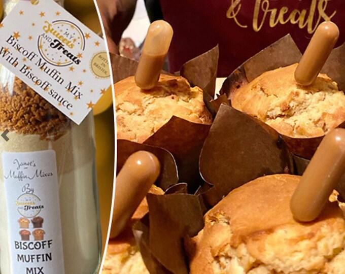 Lotus Biscoff Muffin Mix, Home baking gift, Make your own kit, Kids crafts. Children's baking. Children's activities. Chocolate muffin mix.