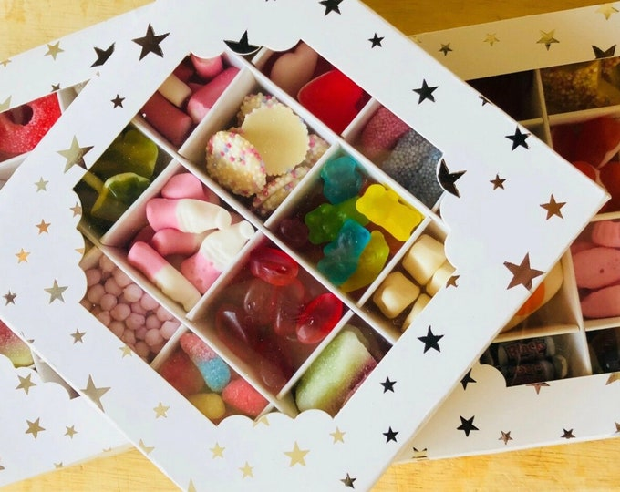 Gluten Free Sweet Gift Box. Pick N Mix Filled, Thank you - Well done - Sweet Variety. Fizzy Mix up - Retro Candy. Birthday Sweet Gifts.
