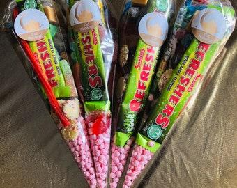 Halal sweet cones, Ramadan celebrations Eid, Handmade to order. Pre filled sweet goodie bags. Halal friendly  gift presents.