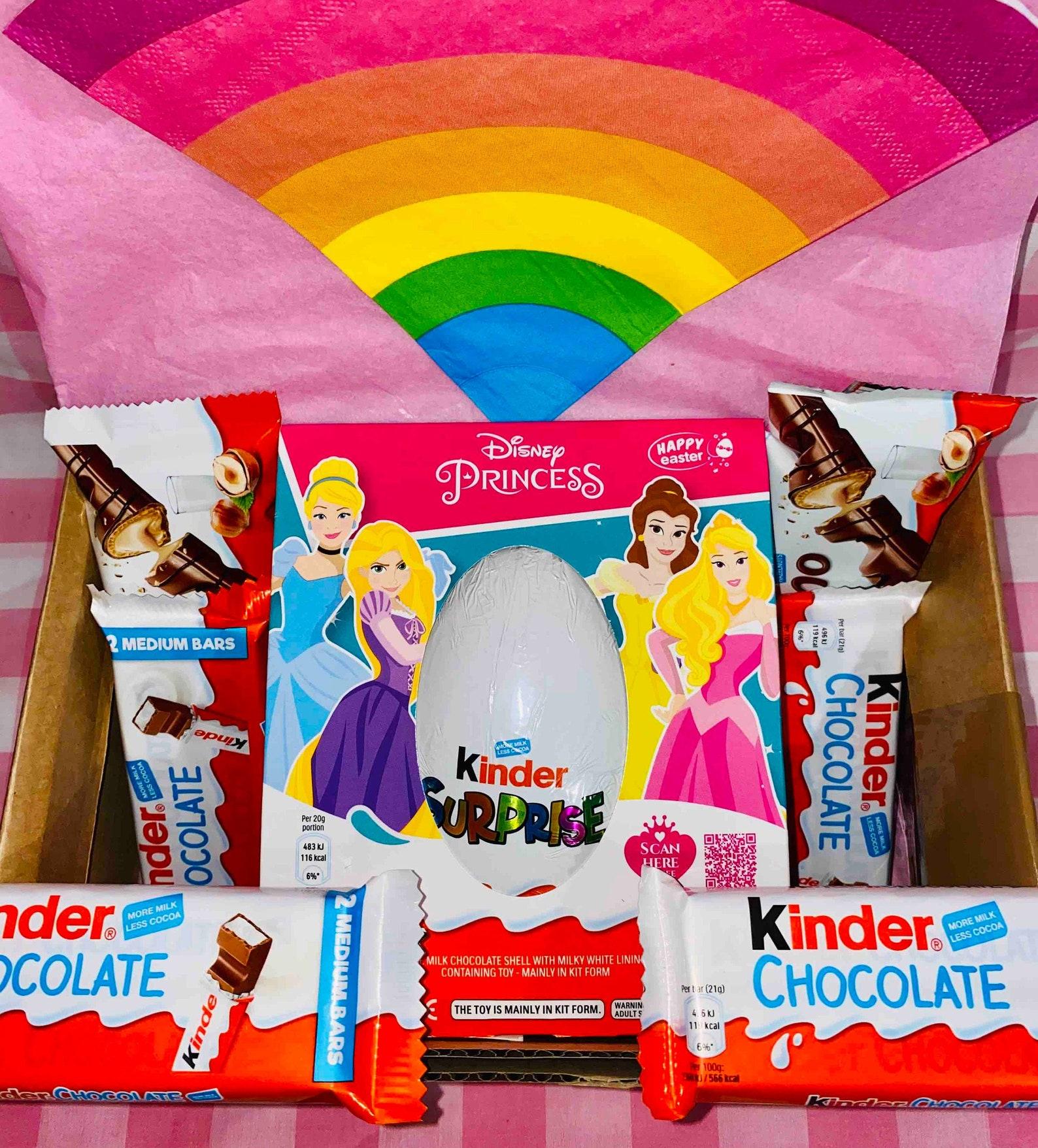 Easter Kinder Egg, Kinder Surprise Egg, Disney Princess, Kinder Chocolate Bars. Chocolate Gift Box.
