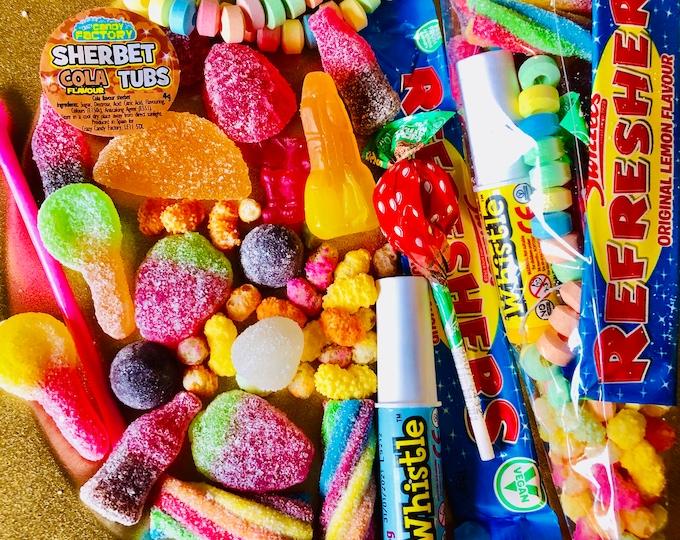 Vegan Sweet Party Cones, Sweet cones - Vegetarian sweets, Halal Sweets - Sweet goodie bags - Pre filled Party Cones - Birthday Party.