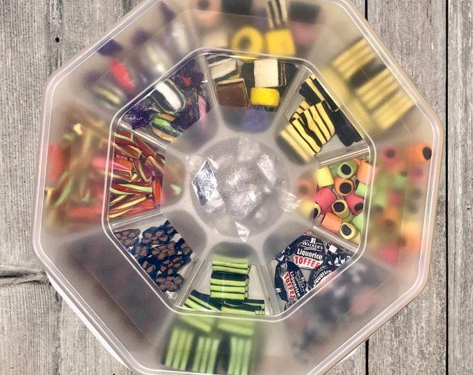 Liquorice Gifts. Liquorice Assortment. Gourmet Liquorice lovers gift. Sweet platter. Liquorice tray. Gift for parents. Gift for Grandparents
