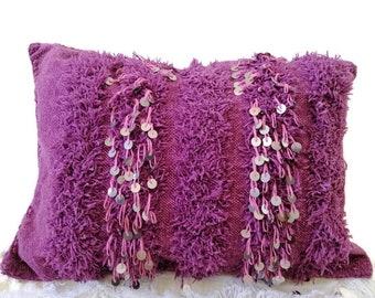 Alwarda beautiful vintage pink wedding blanket Berber handira cap
