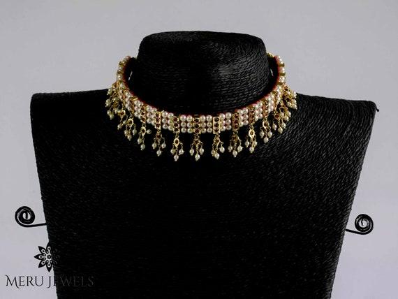 Meru Jewels Indian Choker Traditional Indian Necklace Necklaces for Women Indian Necklace Bridal Necklace Wedding Jewelry
