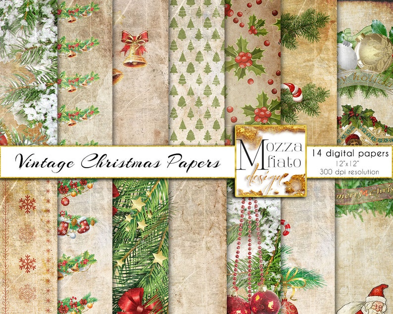 picture relating to Christmas Printable Paper titled Traditional Xmas Electronic Paper Pack. Xmas Getaway Designs Sbook. Antique Xmas routine printable. Retro Family vacation Down load 040