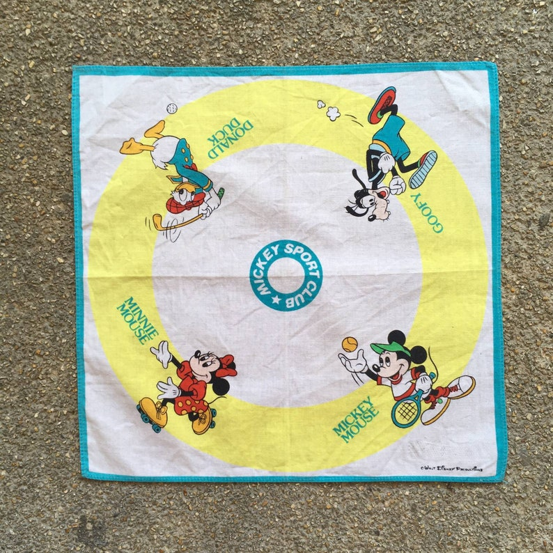 Vintage90s Mickey mouse and Friends Handkerchief