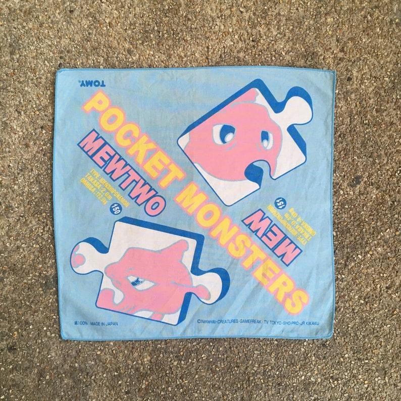Vintage Pokemon MewMewtwo Handkerchief