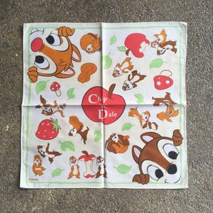 Vintage90s Chip and dale Handkerchief
