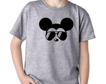 6286ce3a5 Mickey Mouse T-Shirt / Mickey Sunglasses Shirt / Boys Disney Shirt / Kids  Disney Shirt / Boys Disney T-Shirt / Childrens Mickey Mouse Shirt