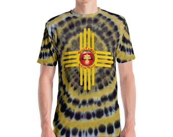 BoulTawn's Black & Yellow Tie Dye Zia Men's T-shirt