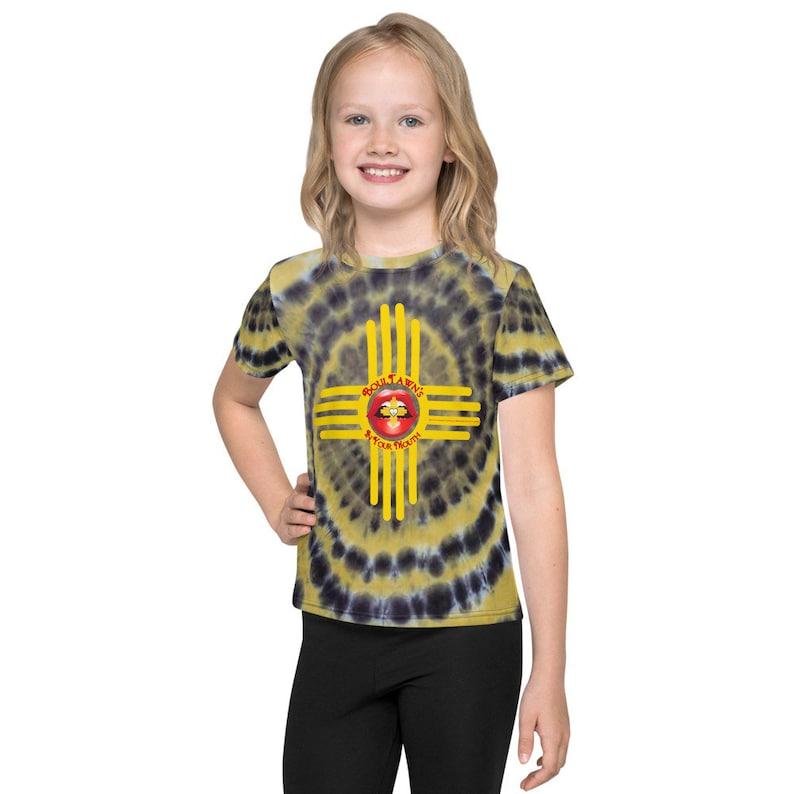 Tie Dye Black & Yellow Kids T-Shirt image 0