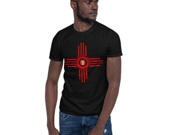 Bright Red Zia Short-Sleeve Unisex T-Shirt