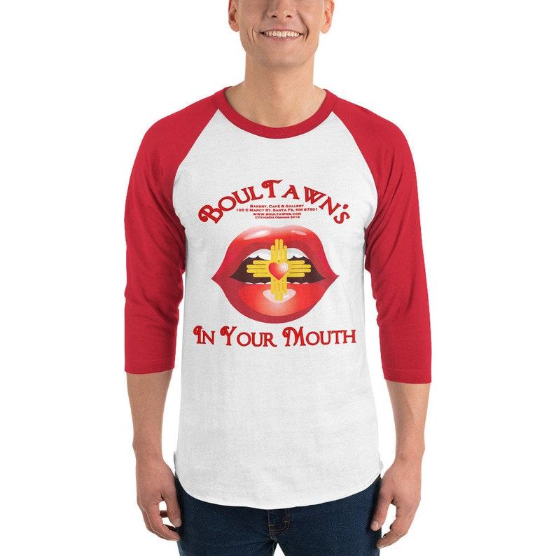 Men's 3/4 sleeve raglan BoulTawn's In Your White/Red