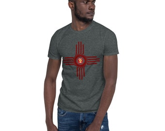 BoulTawn's Zia Maroon Short-Sleeve Unisex T-Shirt