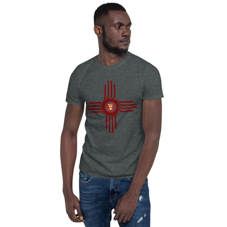 BoulTawn's Zia Maroon Short-Sleeve Unisex T-Shirt Dark Heather