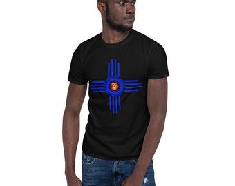 Bright Blue Zia Short-Sleeve Unisex T-Shirt