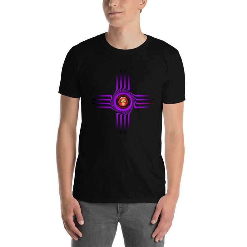 BoulTawn's Zia Purple Short-Sleeve Unisex T-Shirt Black