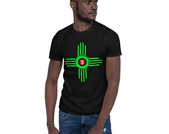 Bright Green Zia Short-Sleeve Unisex T-Shirt