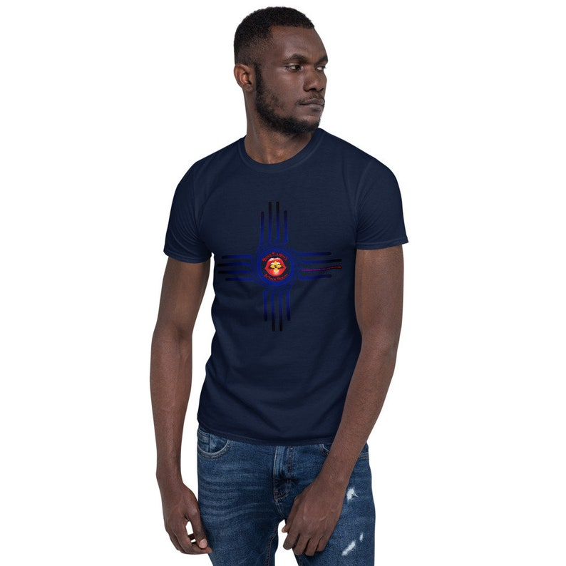 BoulTawn's Zia Blue Short-Sleeve Unisex T-Shirt Navy