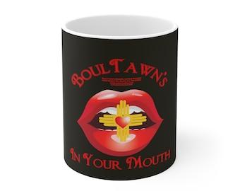 Boultawn's In Your Mouth Black Ceramic Mug