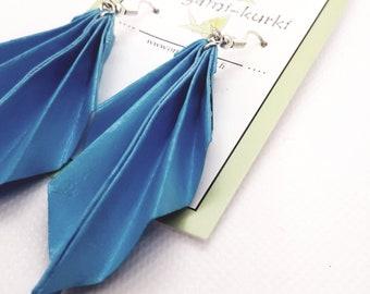 ORIGAMI leaf earrings. Origami earrings. Choose your color.
