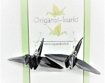 ORIGAMI crane earrings. Origami earrings. Choose your color. Waterproof.