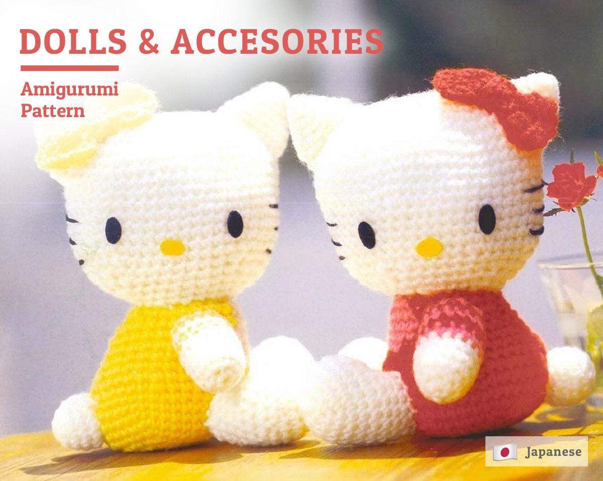 Hello Kitty Accesories Pattern Amigurumi Hello Kitty Pattern Etsy