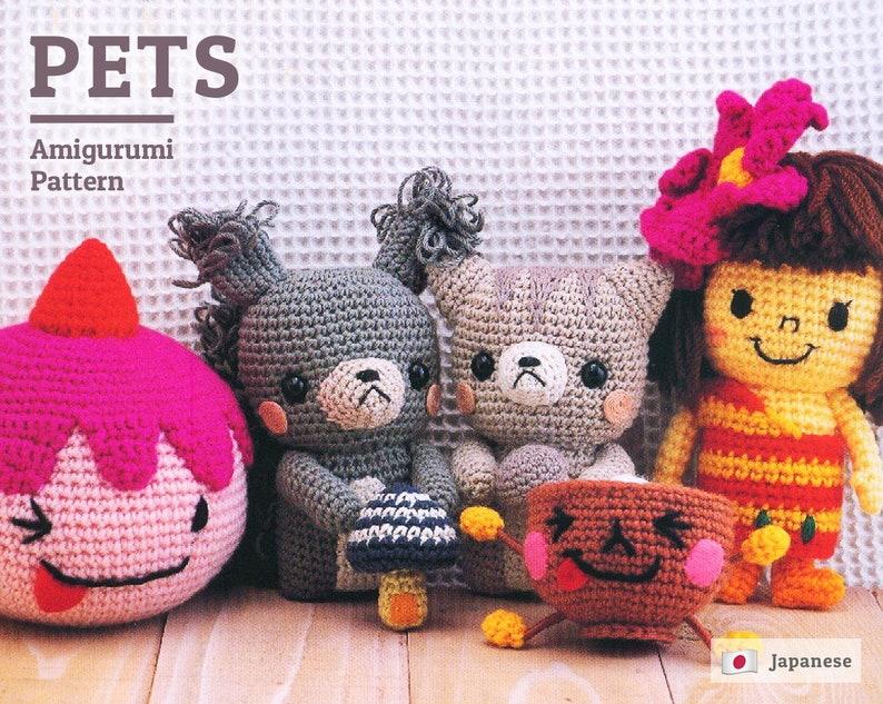 Vintage Japanese Amigurumi Crochet Figures - 21 figures - dolls ...   633x794