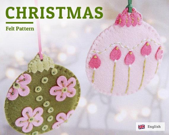 brand new 4df7f ab2ee Felt christmas decorations, Felt ornaments pattern, felt christmas pattern,  english Pattern, christmas ornaments pattern, PDF pattern