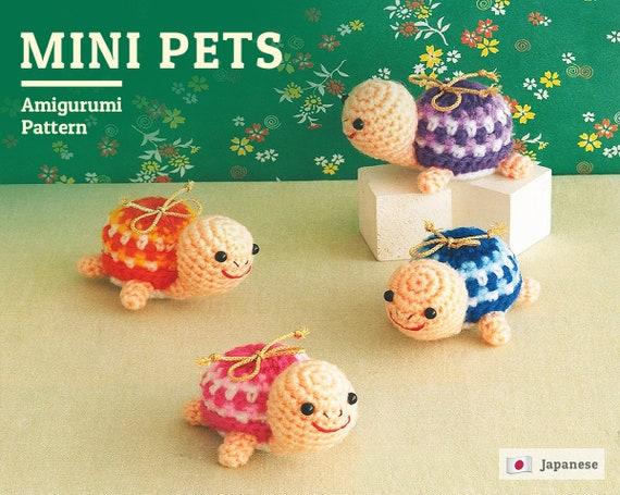 Turtle Amigurumi pattern, Mini Pets Crochet Pattern, Japanese Pattern,  amigurumi animals pattern, PDF pattern, crochet pets, diy pattern