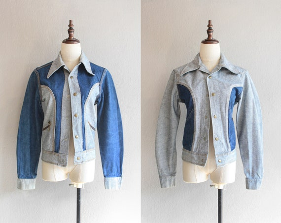 70s Lee reversible denim jacket / s