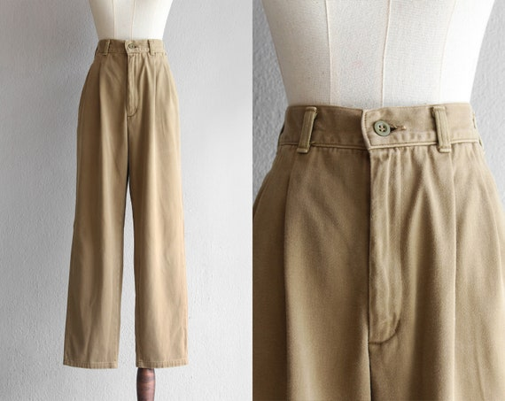 "khaki brown tapered pants / 29.5"""