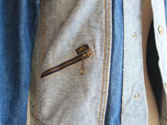 70s Lee reversible denim jacket / s - image 5