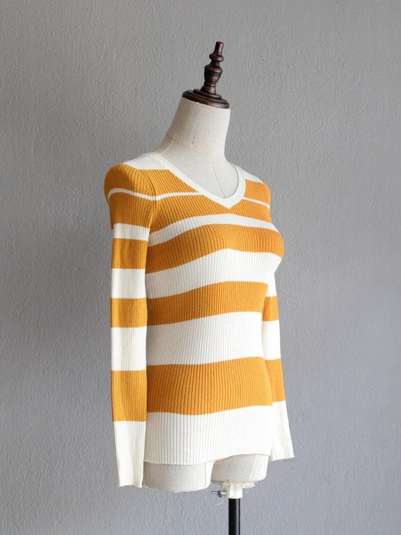 marigold striped jumper / xs - image 2