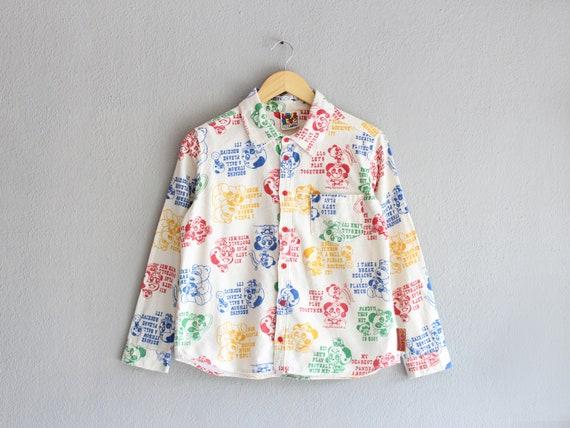 kitsch boxy print shirt / s m