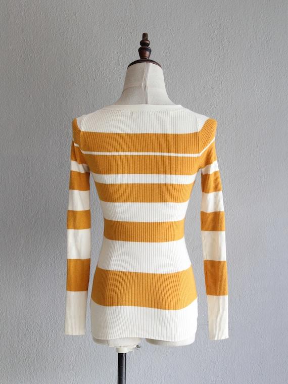 marigold striped jumper / xs - image 3