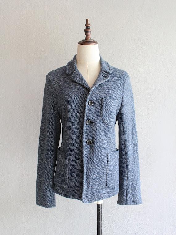 45RPM blue tweed jacket / m