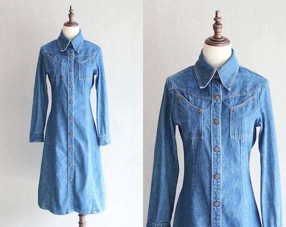 70s Landlubber denim dress / s m