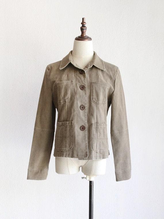short patch pocket jacket / s m