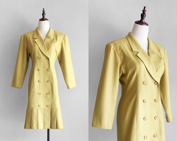 80s citrine blazer dress / s