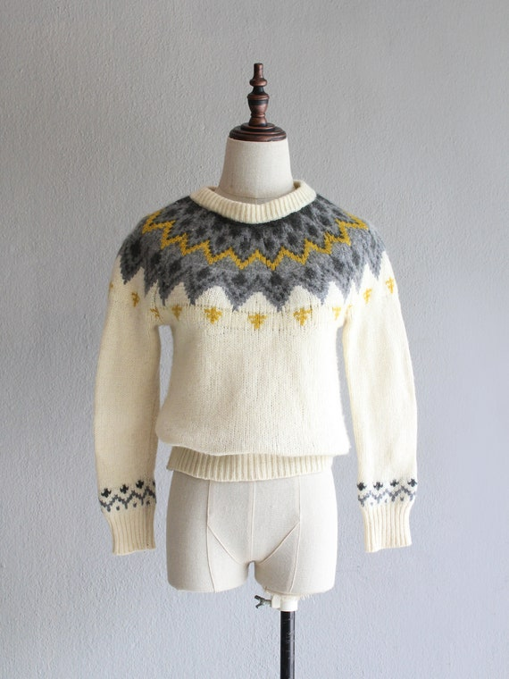 nordic fair isle sweater / s m